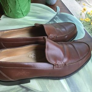 JOHNSTON &MURPHY BROWN LEATHER LOAFERS MENS 10.5